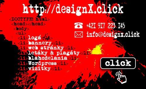 Vizitka designX.click